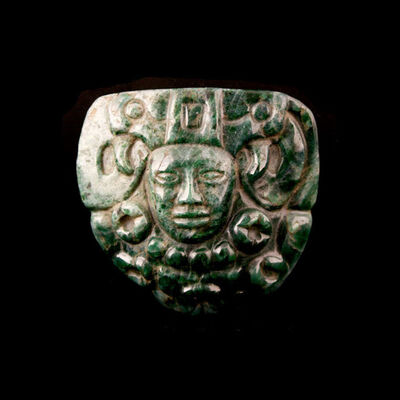 Unknown Pre-Columbian, 'Mayan Jade Pectoral', 300 AD to 900 AD