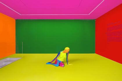 Ugo Rondinone - a rainbow . a nude . bright light . summer