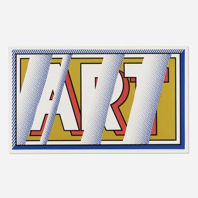 Roy Lichtenstein, 'Reflections: Art', 1988