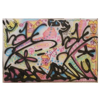 "Kenny Scharf, '""JETSONS"", 1980's, Spray Paint on Canvas, Scharf & LA2 Collaboration. ', ca. 1980"