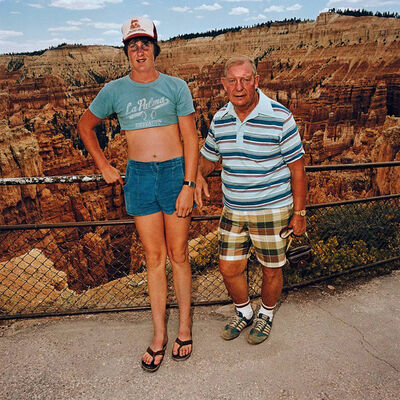 Roger Minick, 'Uncle & Nephew at Sunset Point, Bryce Canyon National Park, Utah', 1981