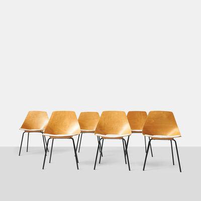 Pierre Guariche, 'A Group of Six Tonneau Chairs by Pierre Guariche', ca. 1954