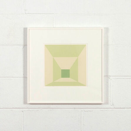 Josef Albers, 'Mitered Squares - Lime', 1976
