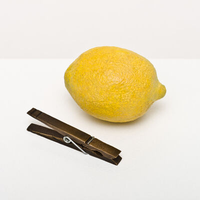Bettina Hubby, 'lemon and clothespin', 2015