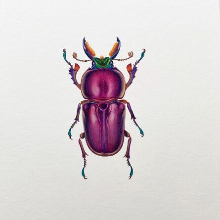 Hannah Hanlon, 'Purple Beetle #2', 2020
