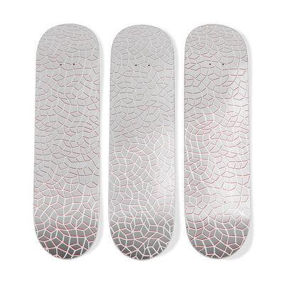 Yayoi Kusama, 'Infinity Nets Skateboard Triptych', 2018