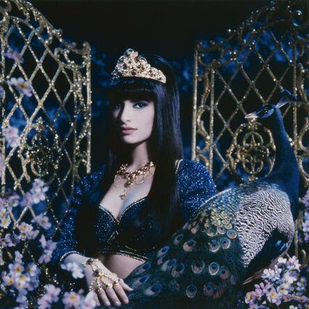 Pierre et Gilles, 'La princesse et le paon (Sophiya)', 1989
