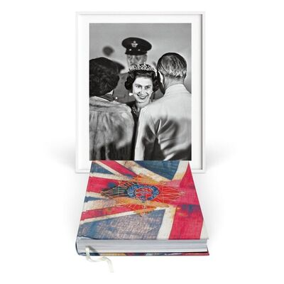 Harry Benson, ' Her Majesty. Vivienne Westwood Edition with Black and White Fine Art Print,  'Royal Greeting'', 1966