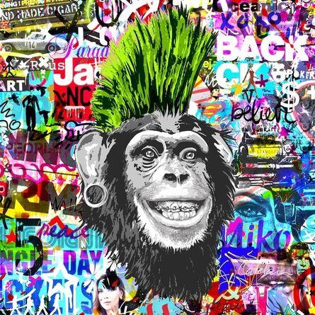 Christophe Catelain, 'Crazy Green Monkey', 2019