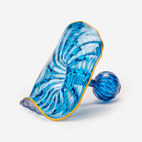 """Dale Chihuly, 'Blue """"Atlantis Persian"""" with Yellow Lip Wrap', 2003"""