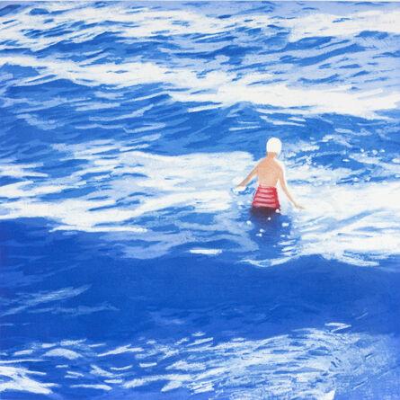 Isca Greenfield-Sanders, 'Wading II (Blue) ', 2012