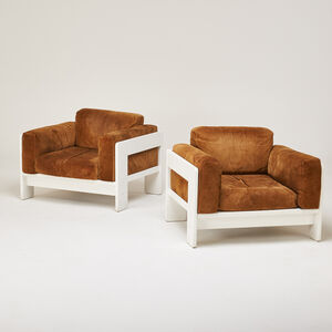 """Afra & Tobia Scarpa, 'Pair of """"Bastiano"""" lounge chairs', 1970s"""