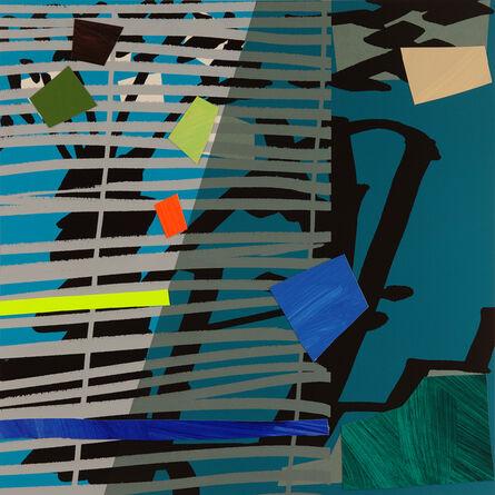 Bruce McLean, 'Blue Grey Blind', 2015
