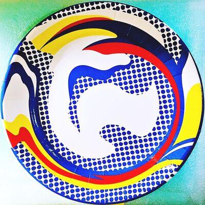 Roy Lichtenstein, 'Screenprinted Paper Plate', 2013
