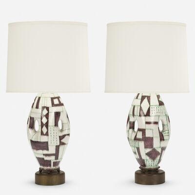 Guido Gambone, 'Table lamps, pair', c. 1955