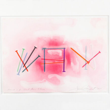 James Rosenquist, 'Drawing #10 For Heart Time Flowers', 1980
