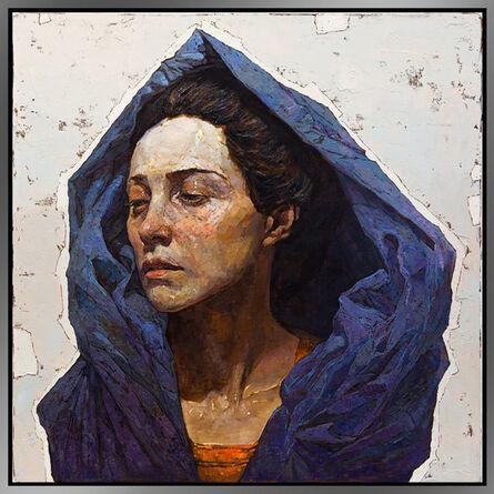 Denis Sarazhin, 'Blue Scarf', 2017