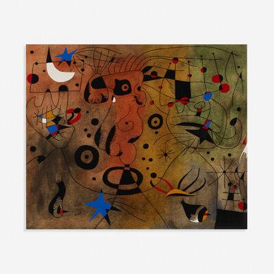 Joan Miró, 'Femme a la blonde aisselle coiffant sa chevelure a la lueur des etoiles (from the Constellations portfolio)', 1959