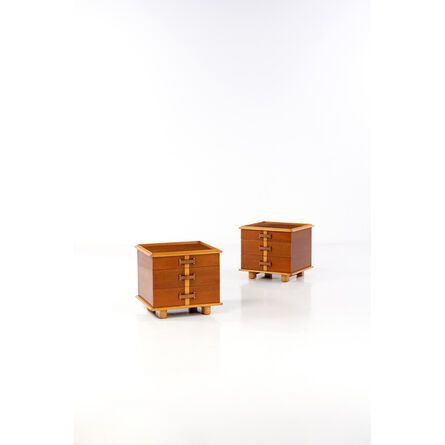 """Paul Frankl, 'Collection """"Station Wagon"""" - Pair of Nightstands', end of circa 1940"""