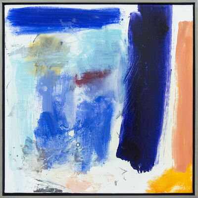 Scott Pattinson, 'Ouvert No 53 - vibrant, colourful, gestural abstraction, oil on square canvas', 2018