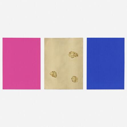 Yves Klein, 'Monochrome und Feuer (triptych)', 1960