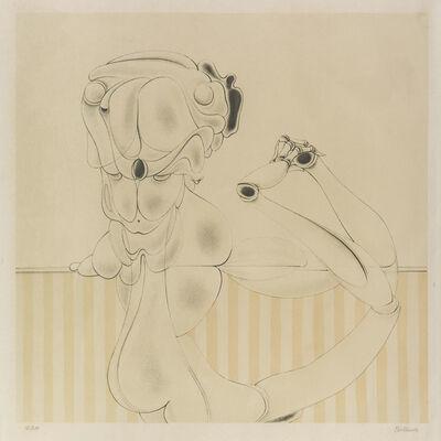 Hans Bellmer, 'Desarticulation sur fond rayé', 1972