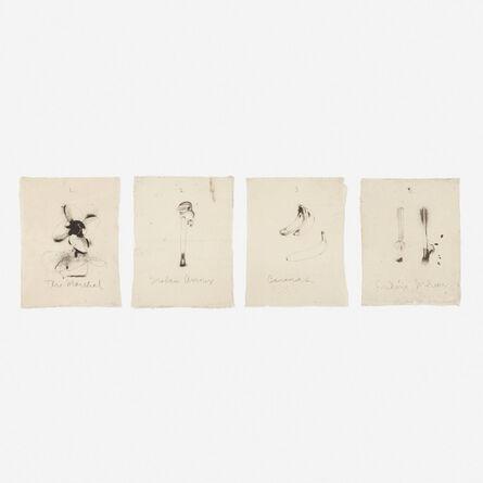 Jim Dine, 'Flaubert Favorites, Edition A (four works)', 1972