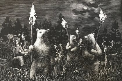 """Year of the Bear"" recent work by Kate Samworth"