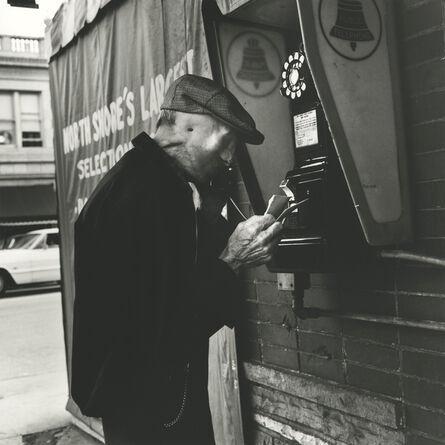 Vivian Maier, 'Man at Phone Booth (0128808)'