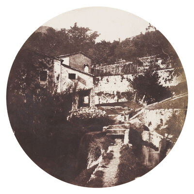Charles Nègre, 'Tondo of Grasse, Multi-Level Garden', 1852c / 1852c