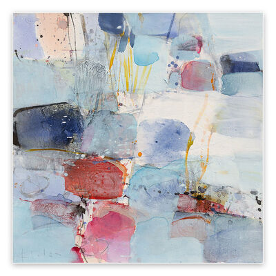 Greet Helsen, 'The ice is broken (Abstract Expressionism painting)', 2021