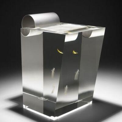 Shiro Kuramata, 'Feather Stool Acrylic, aluminum and feathers. ', 1990