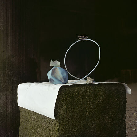 Angela Blažanović, 'Blue Football, Blue Wire with Stone, Piece of Glass and a Hairbrush', 2019