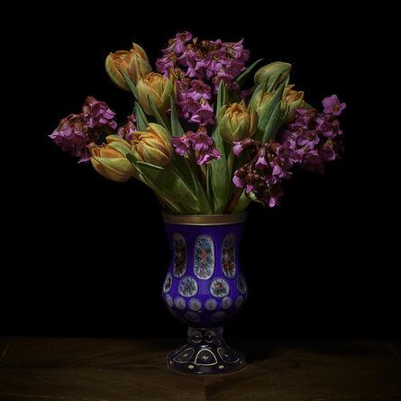 T.M. Glass, 'Azaleas and Tulips in a European Vessel', 2018