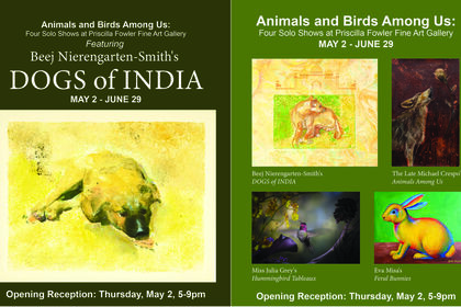 Animals and Birds Among Us: Four Solo Shows at Priscilla Fowler Fine Art Gallery
