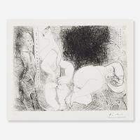 Pablo Picasso, 'Filles au Repos, avec Degas Songeur (from Series 156)', 1971