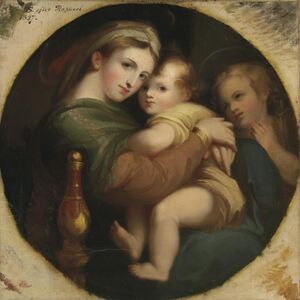 Thomas Sully and Jane Cooper Sully Darley, ''The Madonna of the Chair', in a painted tondo'