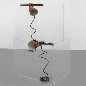 Angelo Ostuni, 'A pair of clamp lamps', 1950's