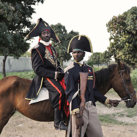 Nicola Lo Calzo, 'Destiné, alias Jean Jacques Dessalines with Adrien, alias Charlotin Marcadieu, «Movement for the Success of the Image of the Heroes of the Independence» Croix-des-Bouquets. Haiti', 2012