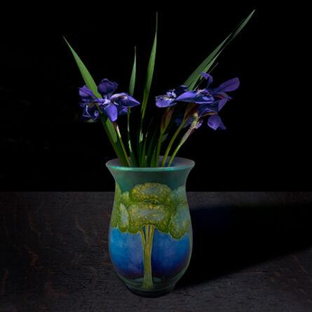 T.M. Glass, 'Siberian Iris in a Roycroft Vessel', 2017