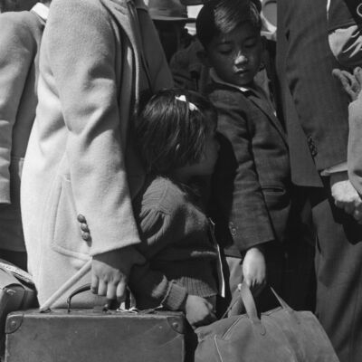 Dorothea Lange, 'Waiting for the Bus', 1942