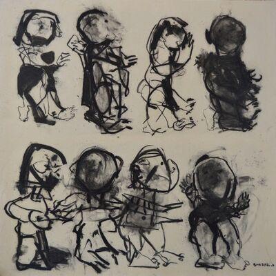 Alaa Sharabi, 'Children Leaving', 2017