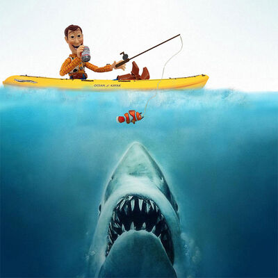 Santlov, 'Jaws Eats Nemo, Then Woody', 2014