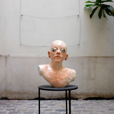 Agathe Brahami-Ferron, 'Bald head bust', 2018