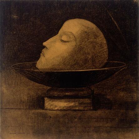 Odilon Redon, 'Martyr ou Tête de martyr sur une coupe ou Saint Jean (Martyr, or Head of a Martyr on a Dish, or Saint John)', 1877