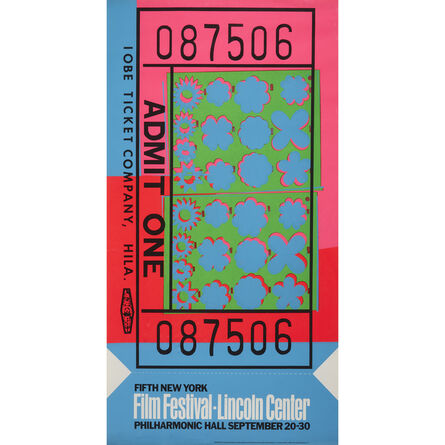 Andy Warhol, 'Lincoln Center Ticket Two Copies', 1967