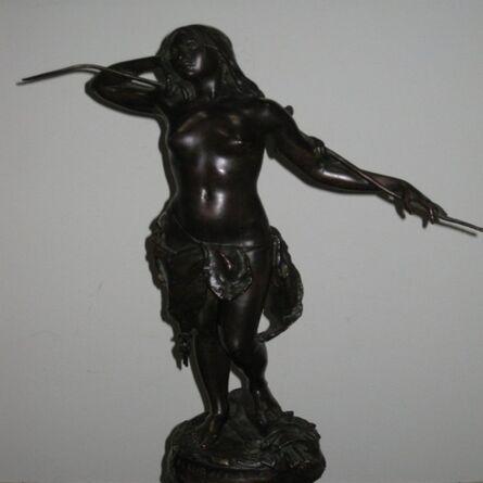 Louis-Philippe Hébert, 'Fleur des bois - car son cœur fut pris par un guerrier blanc', 1897