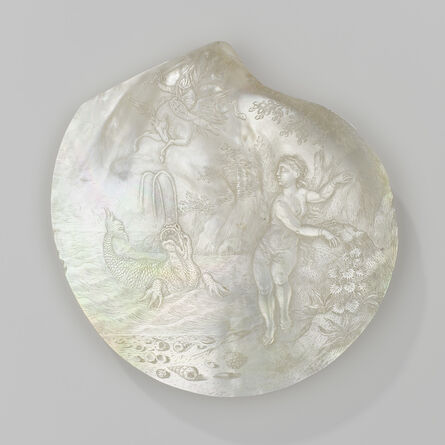 Cornelis Bellekin, 'Oyster shell with the liberation of Andromeda', 1660-1700