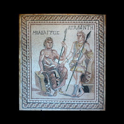Unknown Roman, 'Roman Mosaic Depicting Meleager and Atalanta', 100 AD to 300 AD