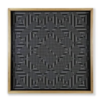 Ennio Chiggio, 'Interferenza lineare 14.3 (4+5 moduli)', 1969